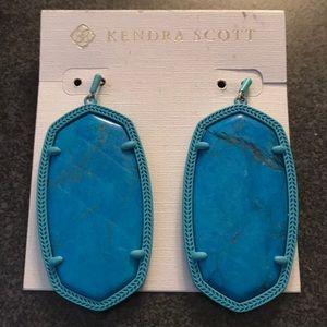 NEW Kendra Scott Danielle blue drop earrings